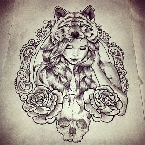 tattoo girl and wolf love to get an indian styled girl in this tattoo instead