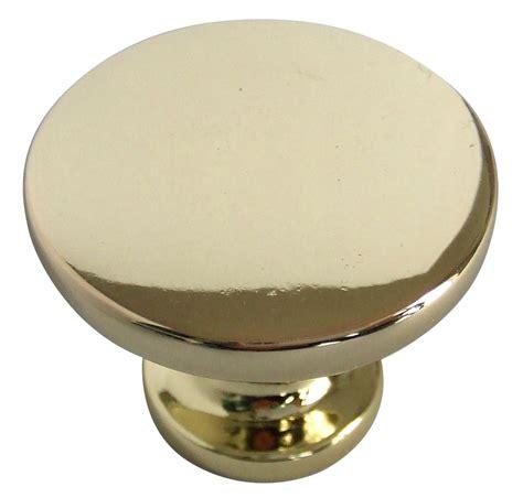 B Q Knobs by B Q Brass Effect Furniture Knob Pack Of 1
