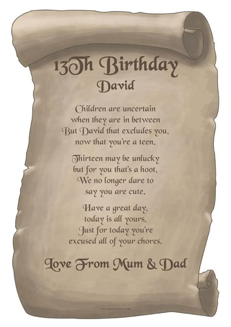 13th Birthday Quotes 13th Birthday Poems And Quotes Quotesgram