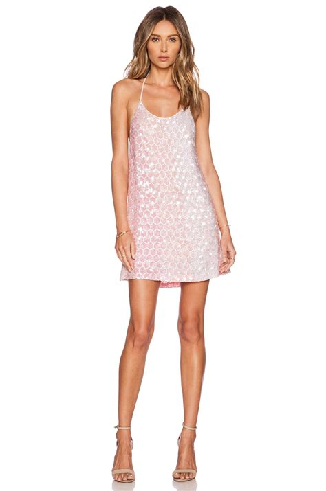 light pink tank dress mlv terra beaded tank dress in pink lyst