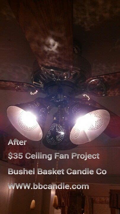 primitive country ceiling fans ceiling fan makeover with tin punched l shades in our
