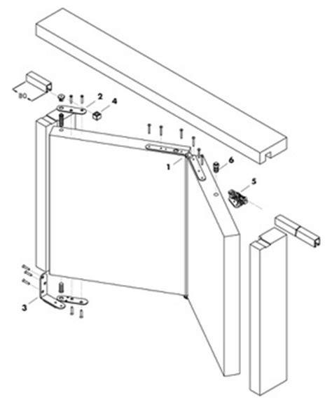 montaggio porta a libro guarnitura per porta pighevole a libro 0684512100