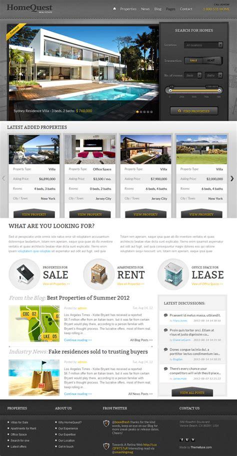 theme wordpress quest 45 best professional real estate wordpress themes