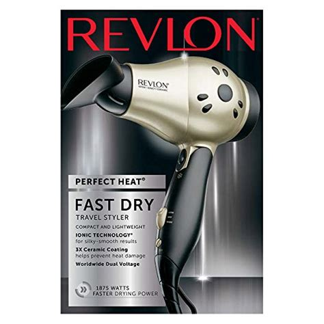 Revlon Mini Hair Dryer revlon 1875w compact travel hair dryer import it all