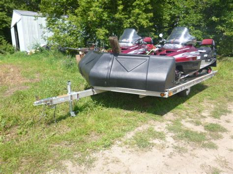 sled bed trailer 1999 sled bed snowmobile trailer vehicles k bid