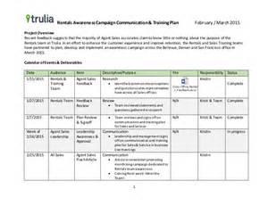 example communication amp training plan