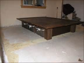 How To Make A Platform Bed Frame With Drawers How To Build Platform Bed Frame With Storage Diy Woodworking Project