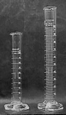 Tabung Ukur Kimia peralatan laboratorium terbuat dari kaca glassware