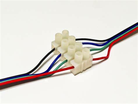 4 way rgb terminal block connector 4 wire connectors