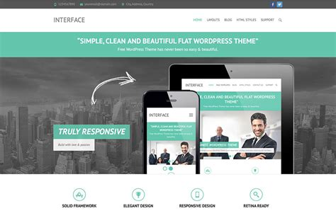 wordpress theme center layout 20 free responsive flat design wordpress themes 2018
