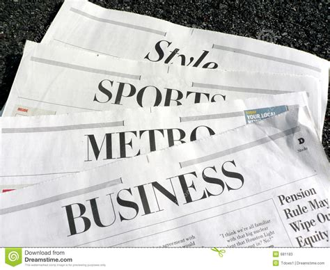 sections in newspapers newspaper newspaper sections stock image image of
