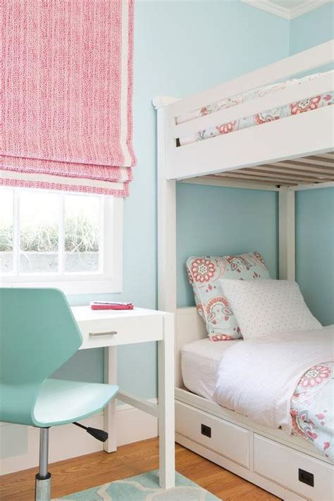 blue and pink bedroom pink and blue girl bedroom with white bunk beds