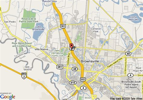 map of brownsville texas map of inn brownsville brownsville