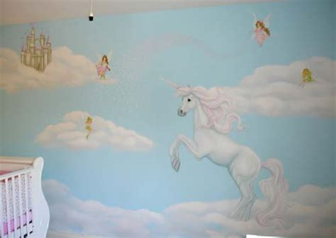 unicorn wall mural decor simple decor between clouds learn drawing