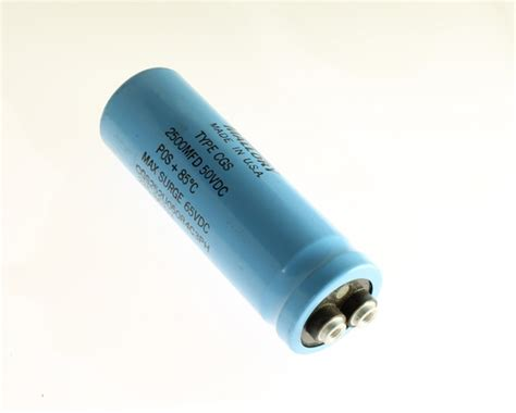 large capacitor mallory 2500uf 50v large can electrolytic capacitor cgs252u050r4c3ph