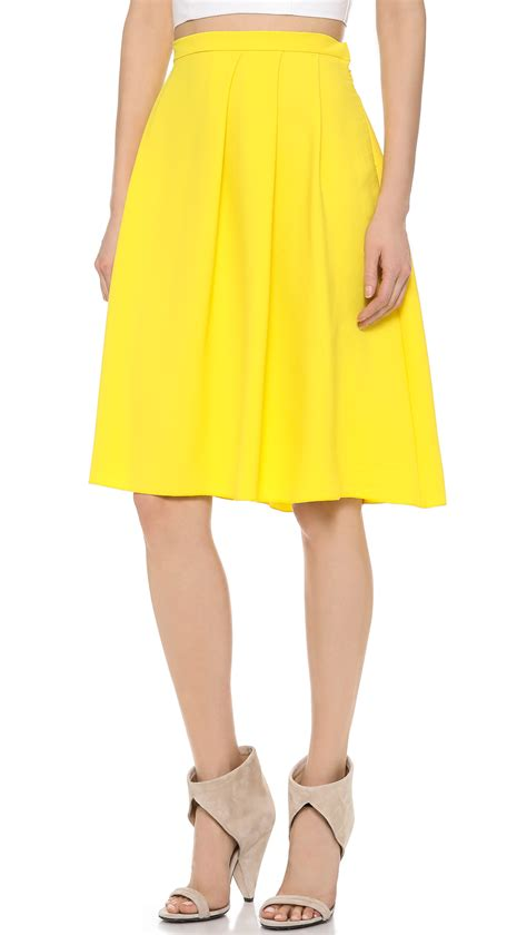 Clover Clothing Skirt Set Flozana clover solid skirt in yellow lyst