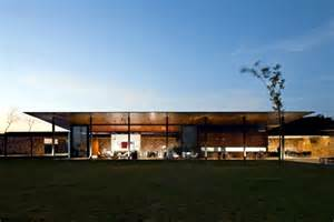 Home Study Interior Design Courses by Clad Single Storey House With A Flat Roof In Brazil In