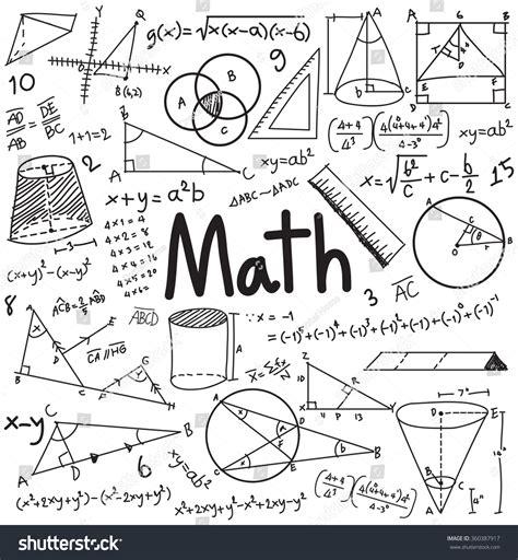 doodle maths sign up math theory mathematical formula equation doodle stock