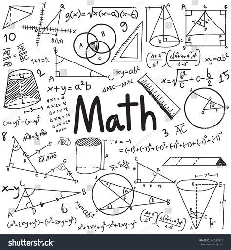 Math Theory Mathematical Formula Equation Doodle Stock