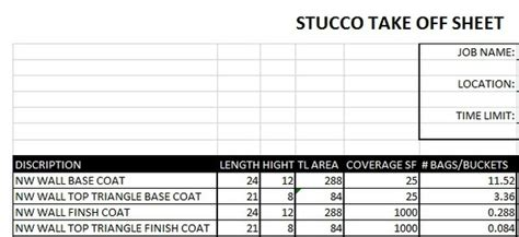 Excel Templates Sellfy Com Stucco Estimate Template