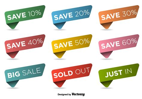 Free Download Vector Label discount labels vector set free vector