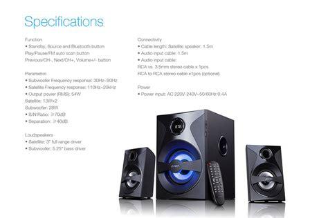 F D Speaker Bluetooth F380x Hitam fenda f d f380x bluetooth multimedia speaker 2 1