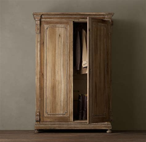 restoration hardware armoire st james armoire dream decorating pinterest