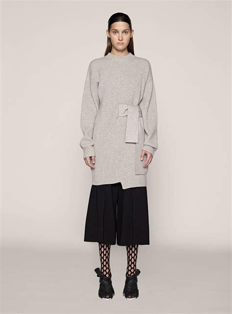 gray knit dress proenza schouler sleeve knit dress in gray light