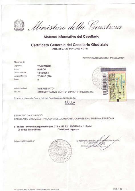 ufficio casellario giudiziale roma certificato generale casellario giudiziale in inglese