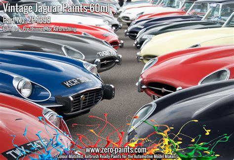 vintage jaguar paints e type etc 60ml zp 1398 zero paints