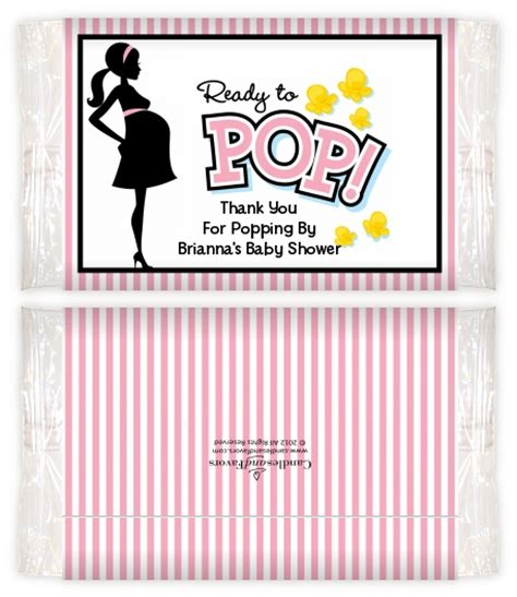 Baby Shower Popcorn Wrappers by Ready To Pop Pink Baby Shower Popcorn Wrappers Baby