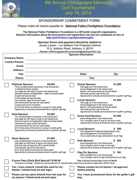 charity commitment letter national fallen firefighters foundation 171 chicagoareafire