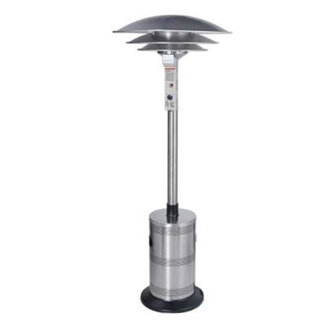 Propane Patio Heaters Home Depot Endless Summer Dome 40 000 Btu Stainless Steel Propane Gas Commercial Patio Heater