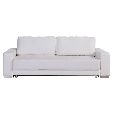 Sleeper Sofa White Modern Sofas Caustic Modern White Sofa Sleeper Eurway