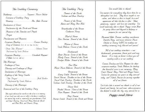The Gallery For Gt Catholic Wedding Program Full Mass Wedding Mass Program Template