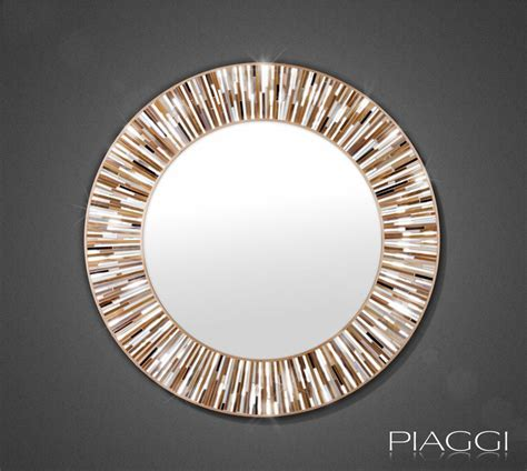 White Decorative Vases Roulette Beige Piaggi Glass Mosaic Mirror Mirrors