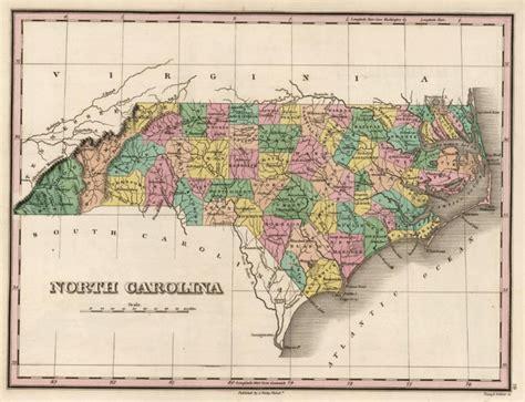 map of carolina nc cartobibliography anthony finley carolina map