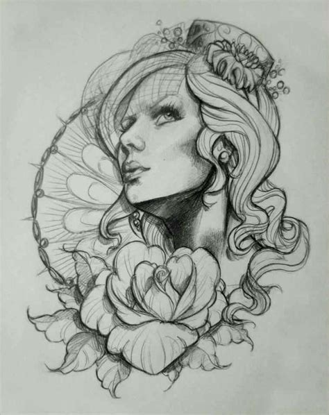woman face tattoo designs collection of 25 design for n