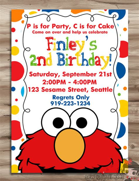 Come Paw Ty With Me Birthday Invites by Elmo Invitation Elmo Invitation Elmo Birthday Invite Sesame