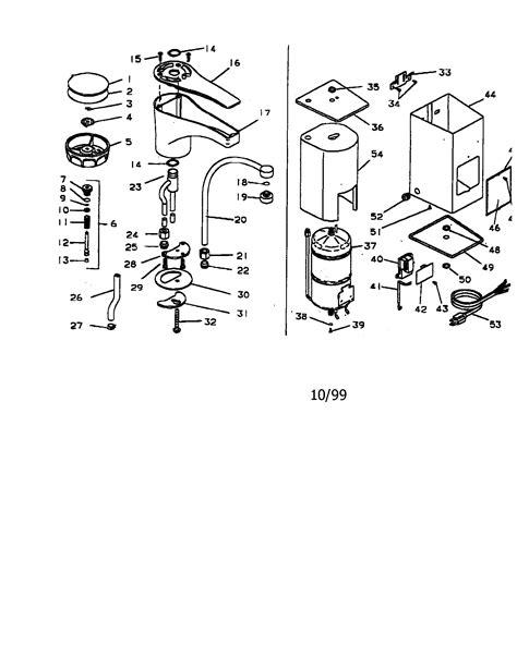 insinkerator parts diagram in sink erator sink water dispenser parts