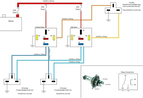 headl relay wiring diagram wiring diagram and