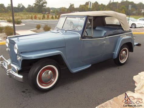 1950s Jeep 1950 Jeep Willys Jeepster 2 4l