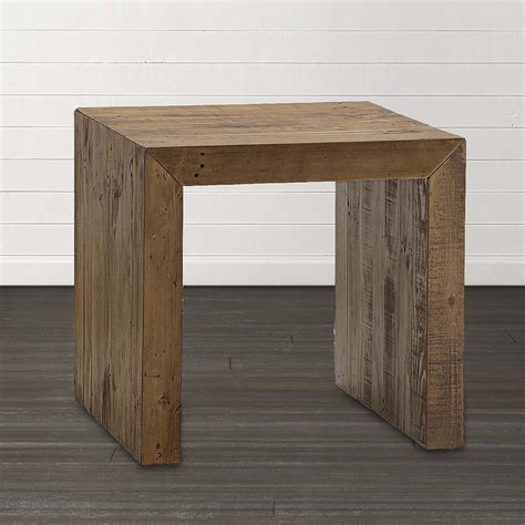 end tables salvaged timber square end table bassett home furnishings