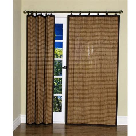 bamboo curtains for sliding glass doors folding panel covering for sliding door or double doors