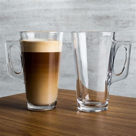 clear coffee mug pasabahce barista coffee collection glass coffee mug set of 2 clear kitchen stuff plus