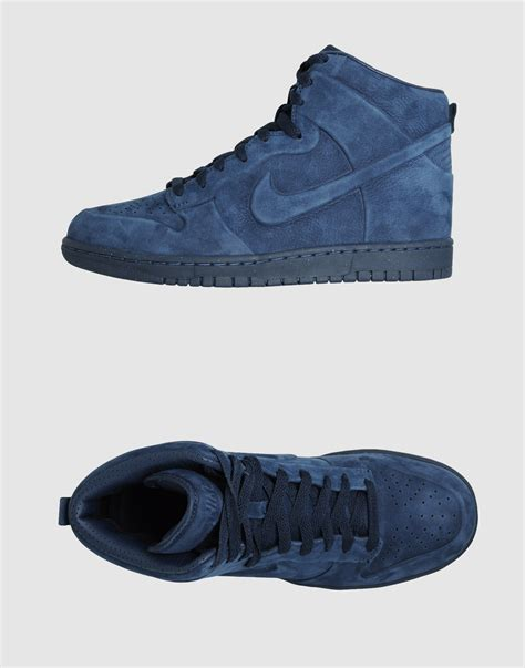 mens nike high top sneakers nike high top sneakers in blue for slate lyst