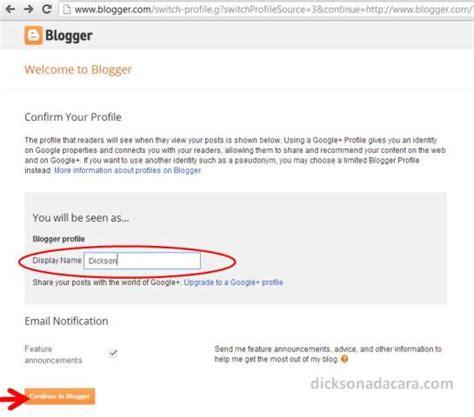 cara membuat blog baru cara mudah membuat blog baru gratis di blogspot blogger