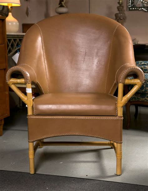 decorative armchairs decorative pair of leather and rattan chairs for sale at