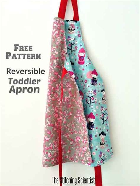 sewing pattern for reversible apron reversible toddler apron with free pattern sewing for