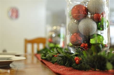 diy decorations using baubles easy table centrepiece ideas be a